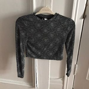 H&M metallic crop top